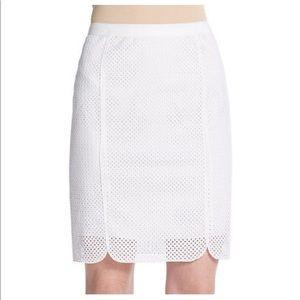Elie Tahari Eyelet Skirt